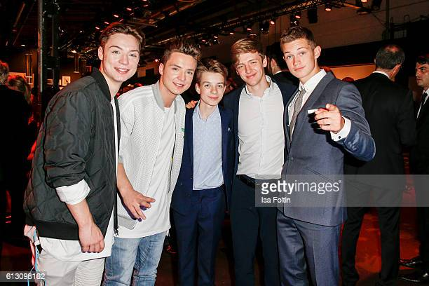 Heiko Lochmann and Roman Lochmann alias 'Die Lochis' with the german actors Nick Julius Schuck Timur Bartels and Damian Hardung during the Tribute To...
