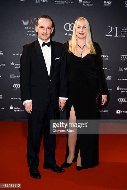 Heiko Maas and Corinna Maas attend the 21st Aids Gala at Deutsche Oper Berlin on January 10 2015 in Berlin Germany
