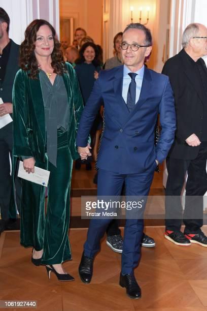 Heiko Maas and his girlfriend Natalia Woerner attend the 20th Media Award by Kindernothilfe at Castle Bellevue on November 15 2018 in Berlin Germany