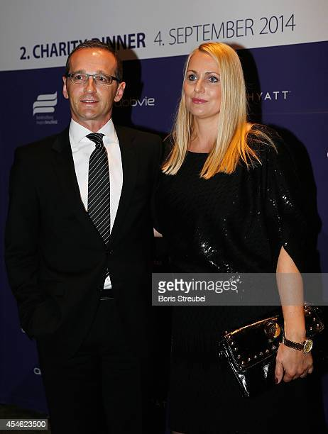 Heiko Maas minister of justice and his wife Corinna pose during the charity dinner of the Magnus Hirschfeld Federal Foundation at Grand Hyatt Hotel...