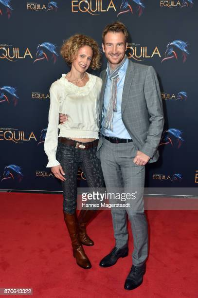 Heiko Ruprecht and his wife Nicole during the world premiere of the horse show 'EQUILA' at Apassionata Showpalast Muenchen on November 5, 2017 in...