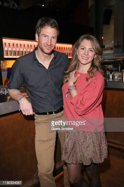 Heiko Ruprecht of the series Bergdoktor and Luise Baehr during the NdF after work press cocktail at Parkcafe on March 13 2019 in Munich Germany