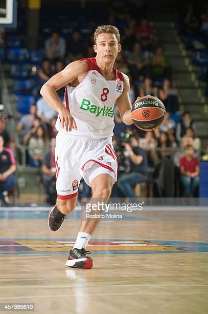 Heiko Schaffartzik of FC Bayern Munich in action during the 20142015 Turkish Airlines Euroleague Basketball Regular Season Date 1 between FC...