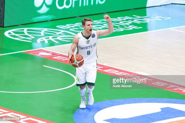 Heiko Schaffartzik of Nanterre during the Basket ball Champions League match between Nanterre and Bonn on January 24 2018 in Nanterre France
