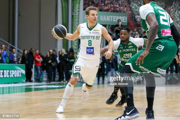 Heiko Schaffartzik of Nanterre during the French Cup match between Nanterre and Le Portel on February 13 2018 in Nanterre France