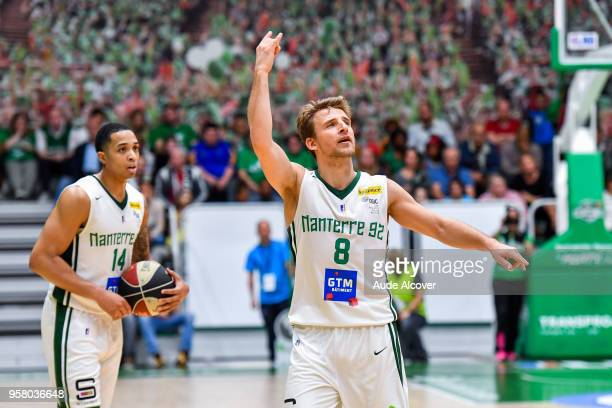 Heiko Schaffartzik of Nanterre during the Jeep Elite match between Nanterre and Levallois Metropolitans at Palais des Sports Maurice Thorez on May 12...
