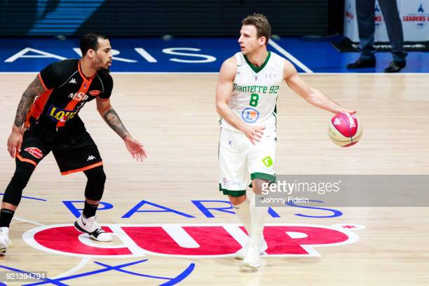 Heiko Schaffartzik of Nanterre during the Leaders Cup match between Le Mans and Nanterre 92 at Disneyland Resort Paris on February 17 2018 in Paris...