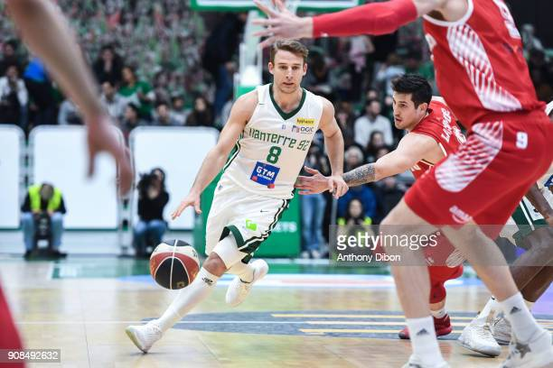 Heiko Schaffartzik of Nanterre during the Pro A match between Nanterre 92 and Monaco on January 21 2018 in Nanterre France