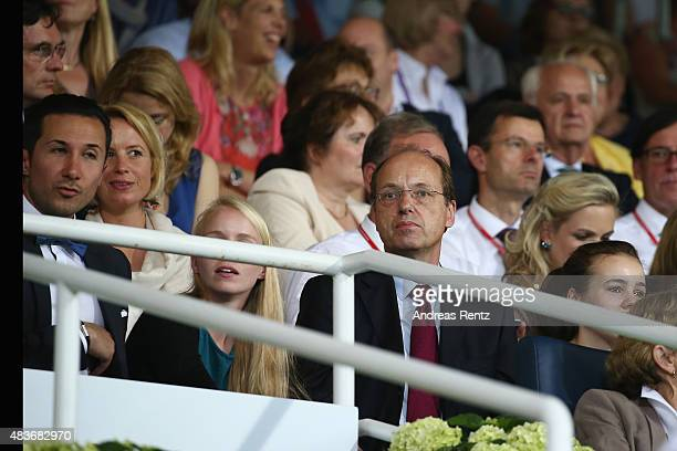 Heiko von der Leyen attends the FEI European Championship 2015 media night on August 11 2015 in Aachen Germany
