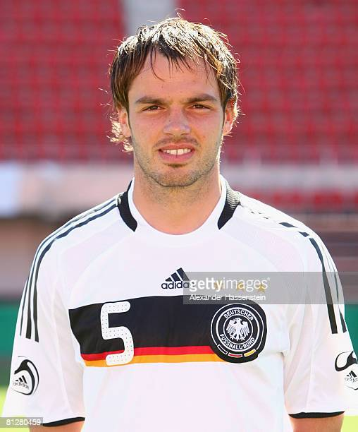 Heiko Westermann of Germany poses at the team photocall at the Son Moix stadium on May 29 2008 in Mallorca Spain