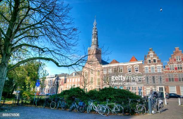 heilige lodewijkkerk in leiden (netherlands) - leiden stock pictures, royalty-free photos & images