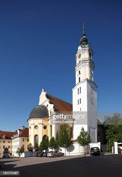heilig-kreuz-kirche church, donauwoerth, donauried, swabia, bavaria, germany, europe - kirche - fotografias e filmes do acervo