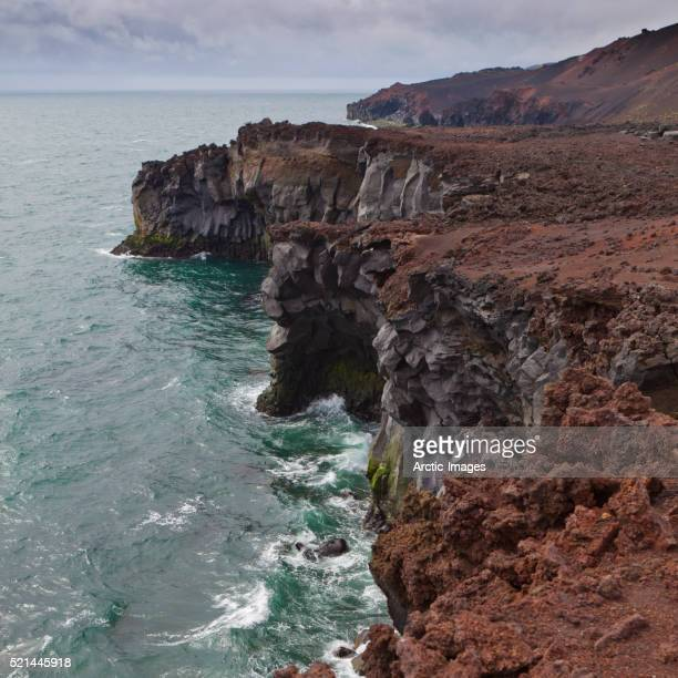 Heimaey rocky coastline, Westman Islands, Iceland