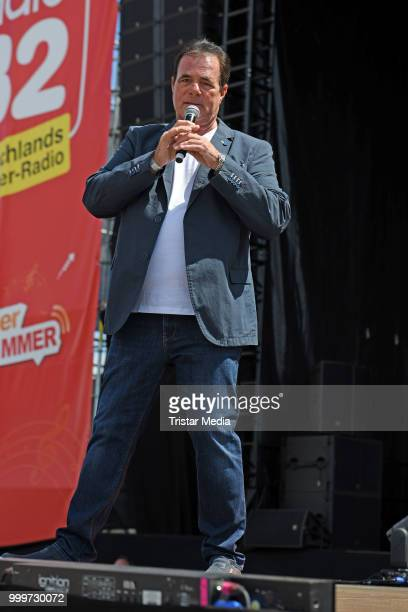 Hein Simons performs at the Radio B2 SchlagerHammer OpenAirFestival at Hoppegarten on July 15 2018 in Berlin Germany