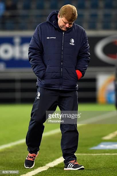 Hein Vanhaezebrouck Headcoach of KAA Gent during the Croky Cup match between KAA Gent and KSC LOKEREN in the Ghelamco Arena stadium on NOVEMBER 30,...