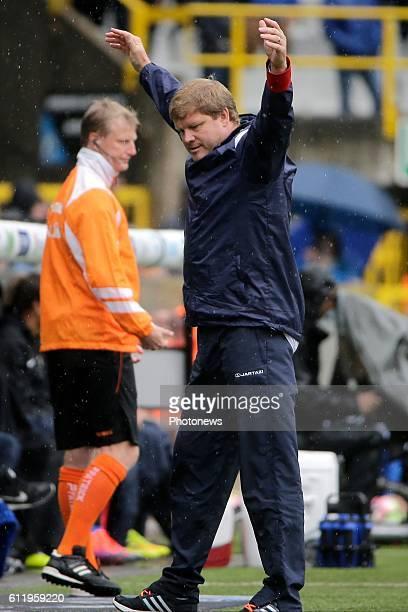 Hein Vanhaezebrouck Headcoach of KAA Gent pictured during Jupiler Pro League match between Club Brugge KV and KAA Gent on OCTOBER2 2016 in Brugge...