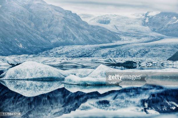 heinabergsjökull glacier, iceland - glacier stock pictures, royalty-free photos & images