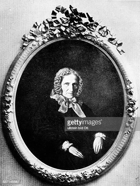 Heine Betty Mutter des Dichters Heinrich Heine Porträt nach dem Gemälde eines unbekannten Malers Düsseldorfer Kunsthalle um 1855
