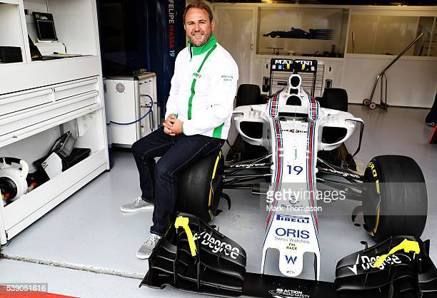 Heineken ambassador Scott Quinnell in the Williams garage during previews to the Canadian Formula One Grand Prix at Circuit Gilles Villeneuve on June...
