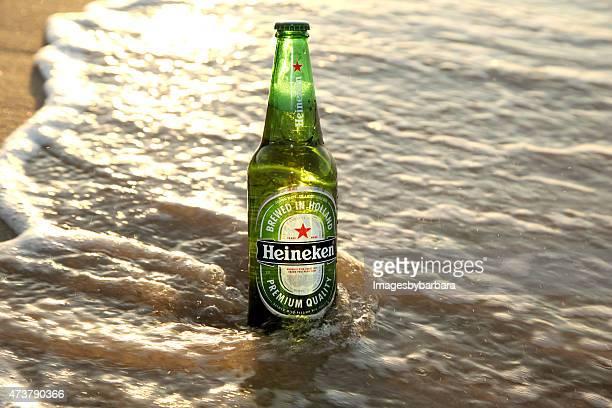 heineken beer bottle - pilsner stock photos and pictures