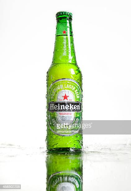 Heineken Beer Bottle Splash
