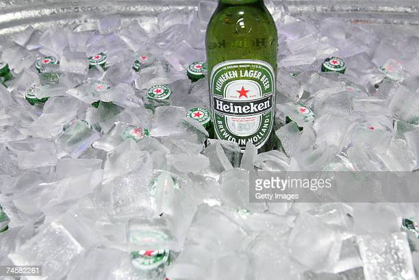 Heineken beer is served at the CineVegas event at The Beatles Revolution Lounge at the Mirage Hotel Casino during the CineVegas film festival on June...