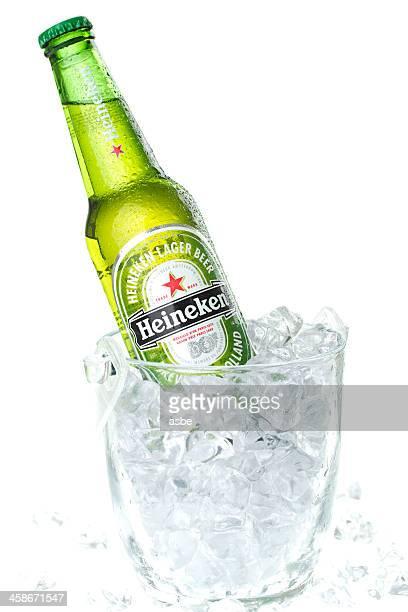 Heineken Bottle in Ice Bucket