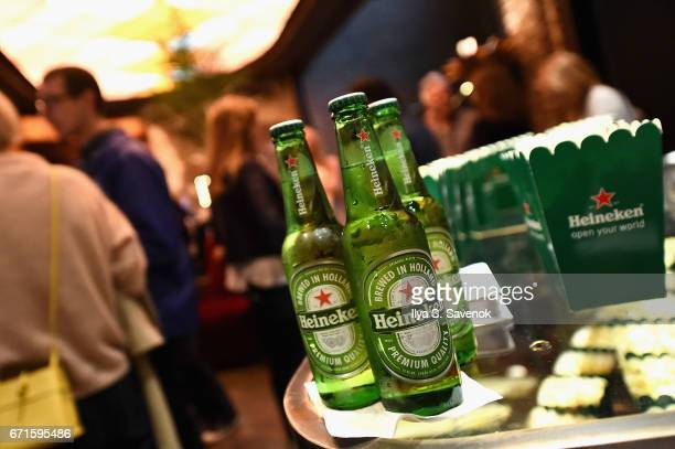 Heineken bottles on display at The Cities Project by Heineken on April 22 2017 in New York City