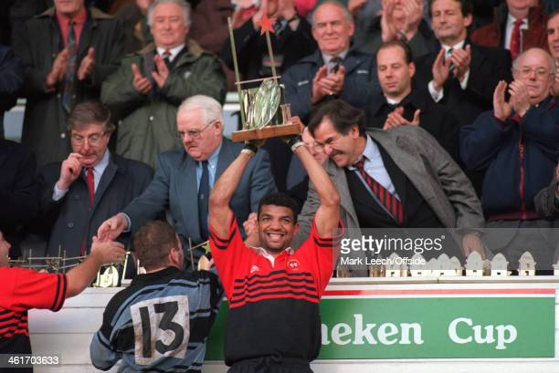 Heineken Cup Rugby Union Final, Cardiff v Toulouse, Toulouse captain Emile Ntamack lifts the Heineken Cup trophy.