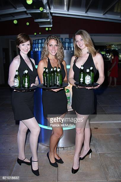 Heineken Girls attends The USTA and HEINEKEN PREMIUM LIGHT KickOff the 2008 US OPEN at The Empire Hotel Rooftop on August 22 2008 in New York City