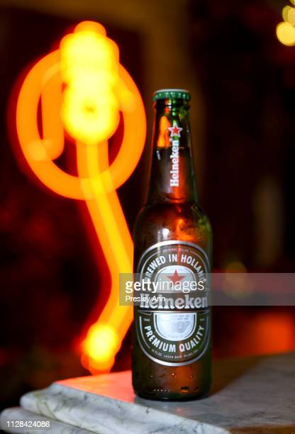 Heineken on display at the Def Jam PreGrammy 2019 party at Catch LA sponsored by Courvoisier Puma Klasse 14 and Tik Tok on February 08 2019 in West...