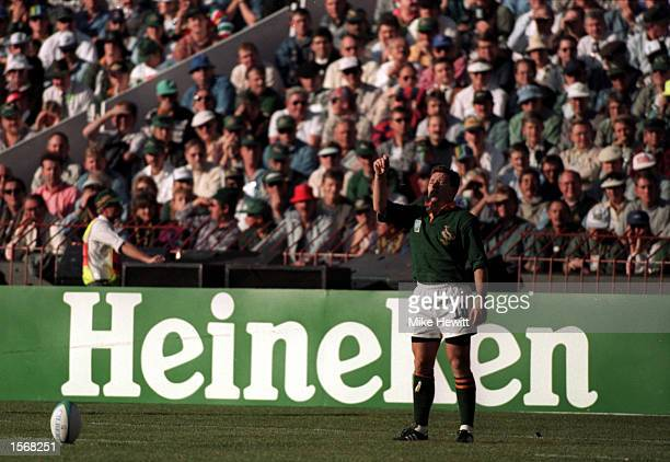 Heineken Rugby World Cup. Joel Stransky of South Africa. Mandatory Credit: Mike Hewitt/ALLSPORT