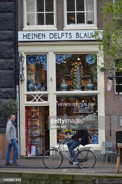 Heinen Delfts Blauw Prinsengracht Amsterdam Niederlande