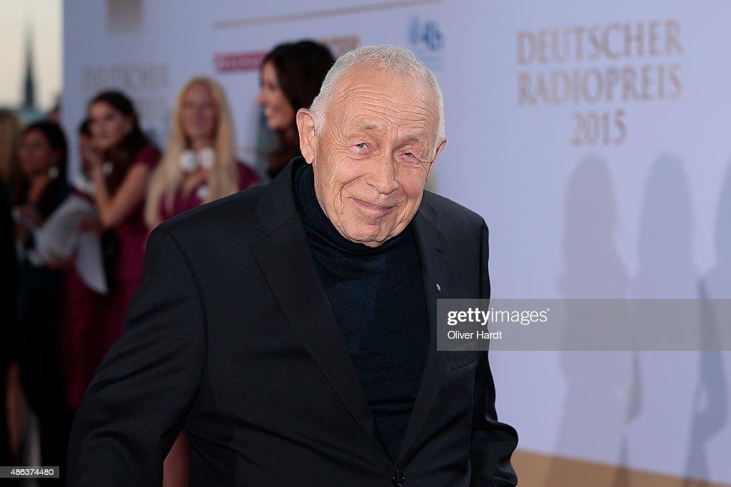 Heiner Geissler poses during the Deutscher Radiopreis 2015 at Schuppen 52 on September 3, 2015 in Hamburg, Germany.