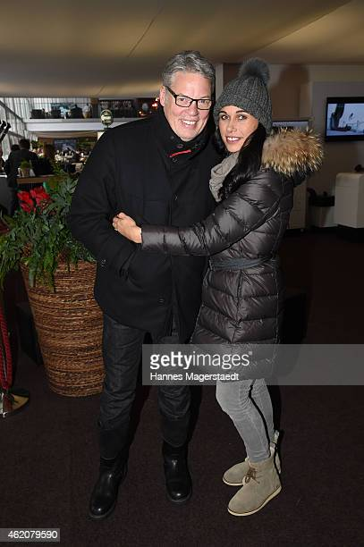 Heiner Kamps and his wife Ela attend the Hahnenkamm Race on January 24 2015 in Kitzbuehel Austria