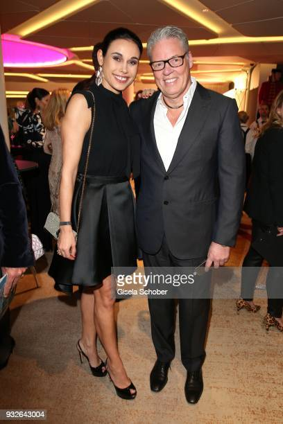 Heiner Kamps and his wife Ella Kamps during the Four Seasons Fashion Charity Dinner at Hotel Vier Jahreszeiten on March 15 2018 in Munich Germany