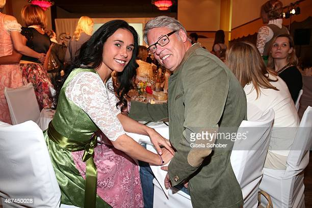 Heiner Kamps and his wife Ella Kamps during the SIXT fashion dinner at Nockherberg on March 24 2015 in Munich Germany