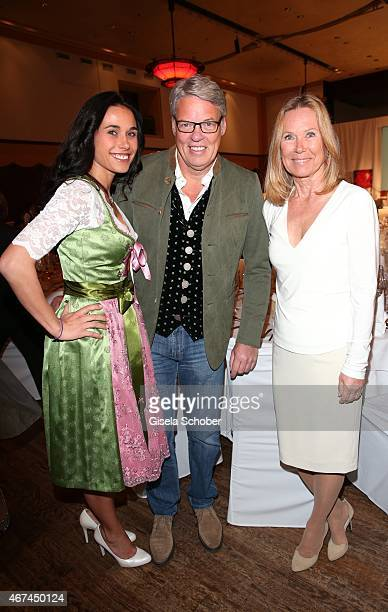 Heiner Kamps and his wife Ella Kamps Sybille Beckenbauer during the SIXT fashion dinner at Nockherberg on March 24 2015 in Munich Germany