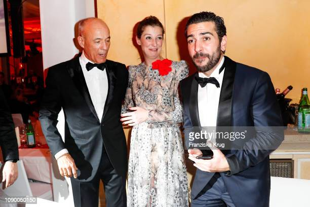 Heiner Lauterbach Alexandra Maria Lara and Elyas M'Barek during the 46th German Film Ball at Hotel Bayerischer Hof on January 26 2019 in Munich...