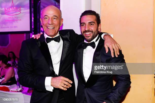 Heiner Lauterbach and Elyas M'Barek during the 46th German Film Ball at Hotel Bayerischer Hof on January 26 2019 in Munich Germany