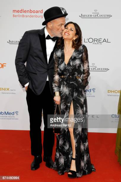Heiner Lauterbach and his wife Viktoria attend the Lola German Film Award red carpet at Messe Berlin on April 28 2017 in Berlin Germany