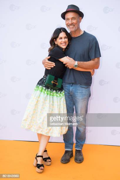 Heiner Lauterbach and his wife Viktoria Lauterbach arrive at the ZDF reception during the Munich Film Festival at Hugo's on June 27 2017 in Munich...