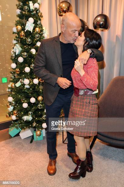 Heiner Lauterbach and his wife Viktoria Lauterbach during the charity christmas campaign of dkms life and Douglas 'Schenken mit Herz' at Douglas...