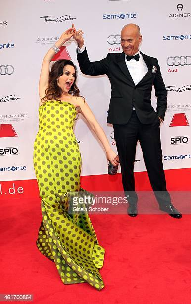 Heiner Lauterbach and his wife Viktoria Lauterbach during the German Filmball 2015 at Hotel Bayerischer Hof on January 17 2015 in Munich Germany