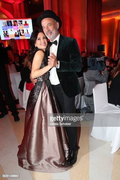 Heiner Lauterbach and his wife Viktoria Lauterbach during the German Film Ball 2018 party at Hotel Bayerischer Hof on January 20 2018 in Munich...