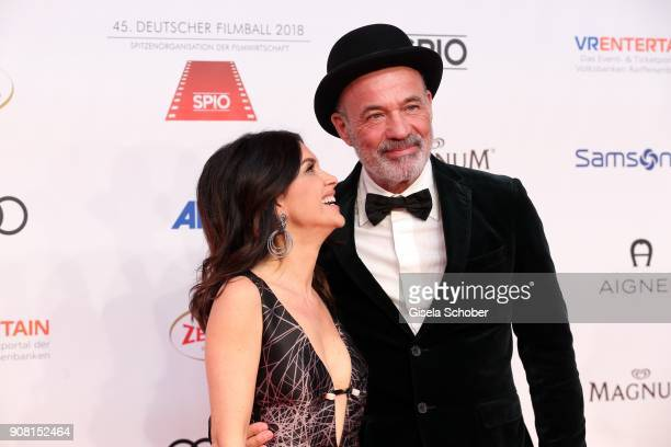 Heiner Lauterbach and his wife Viktoria Lauterbach during the German Film Ball 2018 at Hotel Bayerischer Hof on January 20 2018 in Munich Germany