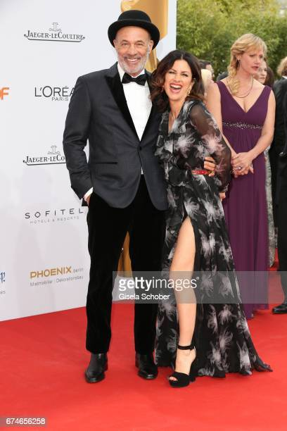 Heiner Lauterbach and his wife Viktoria Lauterbach during the Lola German Film Award red carpet arrivals at Messe Berlin on April 28 2017 in Berlin...