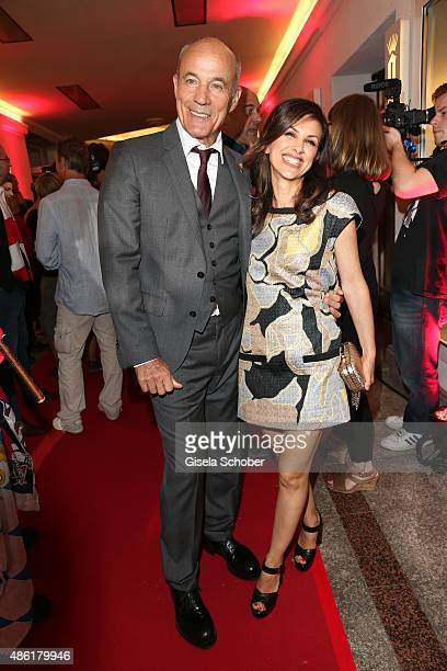 Heiner Lauterbach and his wife Viktoria Lauterbach during the premiere of the film 'Die Udo Honig Story' at Gloria Palast in Munich on September 1...