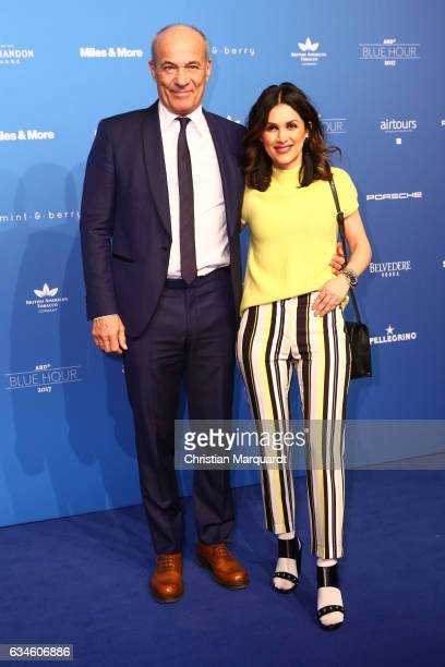 Heiner Lauterbach and Viktoria Lauterbach attends the Blue Hour Reception hosted by ARD during the 67th Berlinale International Film Festival Berlin...