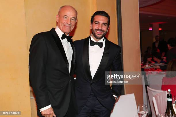 Heiner Lauterbach Elyas M'Barek during the 46th German Film Ball party at Hotel Bayerischer Hof on January 26 2019 in Munich Germany